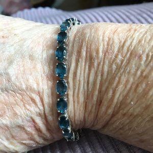 """JTV Jewelry - London Blue Topaz sz 7"""""""